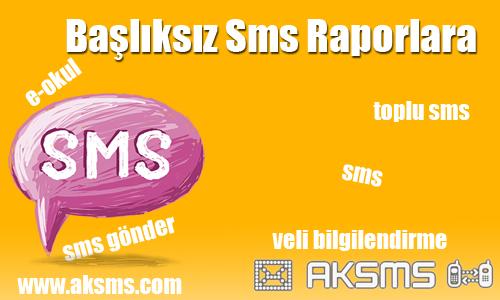SMS Raporlara Bakma
