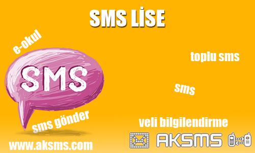 Sms lise,lise sms,e-okul sms,devamsızlık sms